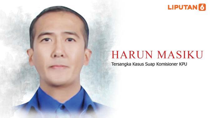 Banner Infografis Harun Masiku Buronan KPK. (Liputan6.com/Triyasni)