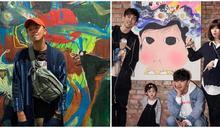 開畫展獻父親、7年存款全上繳!黃鴻升12幅畫全賣光:你兒子的垃圾也能變藝術