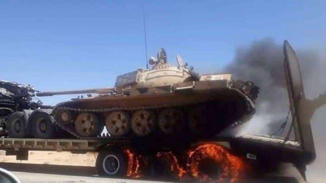 Rudal Haftar Hantam Konvoi Militer Turki, 40 Tentara Tewas Terbakar