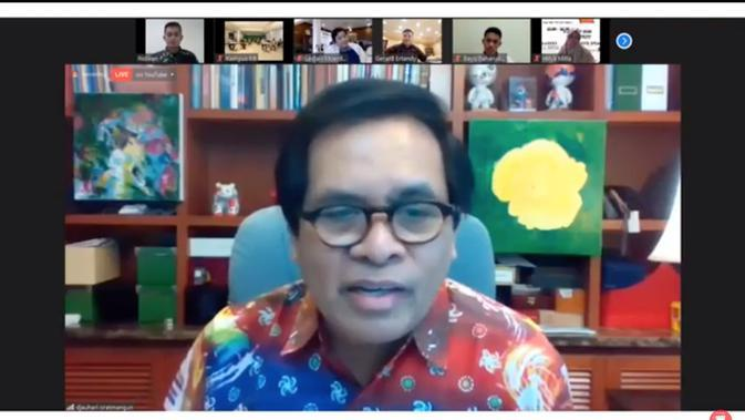 Djauhari Oratmangun, Duta Besar RI di Tiongkok dalam acara virtual peluncuran buku bertajuk