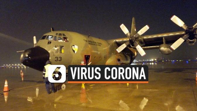 VIDEO: Pesawat Hercules TNI Bertolak dari China Bawa 9 Ton Alat Medis Corona