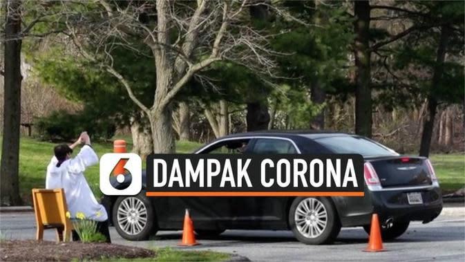 VIDEO: Akibat Corona, Muncul Pengakuan Dosa Secara Drive Thru di Amerika