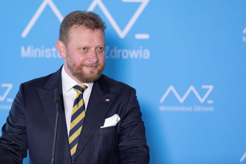 Once the face of Poland's COVID-19 fight, ex-minister tests positive - website