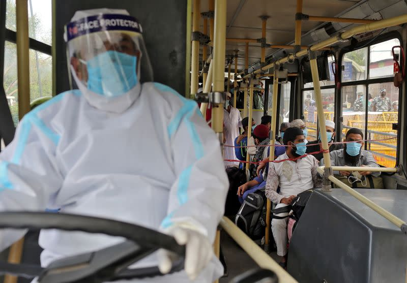 FILE PHOTO: The spread of coronavirus disease in Nizamuddin area of New Delhi