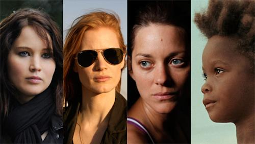 Jennifer Lawrence, Jessica Chastain, and Marion Cotillard top the 10 best-actress contenders
