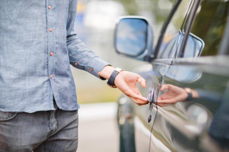 Guy Opening a Car Door {Always Buy on Craigslist}