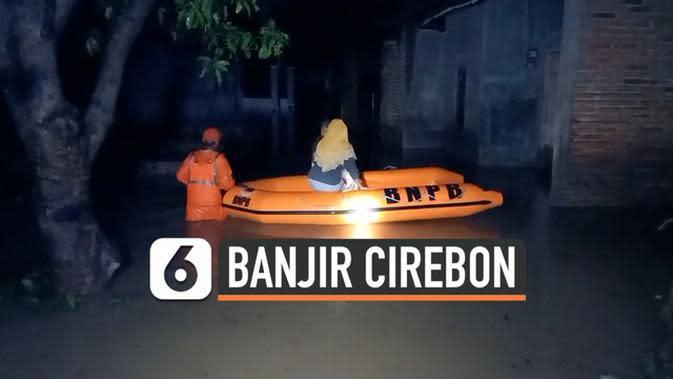 VIDEO: Hujan Deras, Ratusan Rumah di Cirebon Terendam Banjir