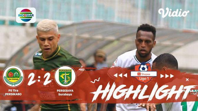 Full Highlight - Tira Persikabo 2 vs 2 Persebaya Surabaya | Shopee Liga 1 2019/2020