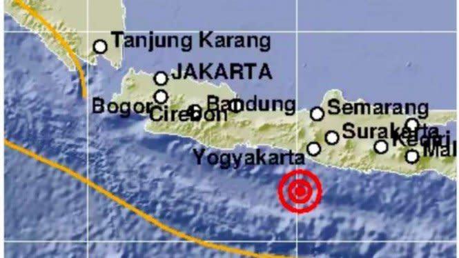 Bantul DIY Diguncang Gempa 5.2 SR, Getaran Sampai Pacitan
