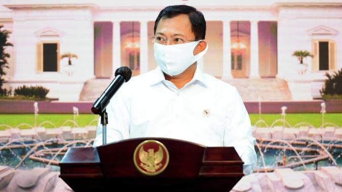 Menteri Kesehatan Terawan Agus Putranto menyampaikan pemerintah saat ini sudah mempersiapkan segala hal yang dibutuhkan dalam upaya penanganan saat konferensi pers di Kantor Presiden, Jakarta, Senin (14/9/2020). (Biro Pers Sekretariat Presiden/Muchlis Jr)