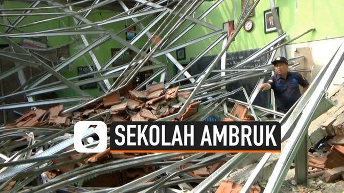 VIDEO: Gedung SD Ambruk, Polisi Temukan Penyimpangan Bangunan