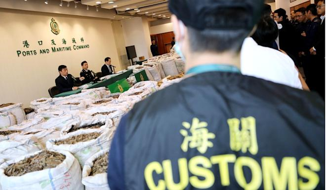 Hong Kong has seized pangolin scales in containers from Africa, on speedboats and fishing vessels as well as from mainland-bound trucks. Photo: Winson Wong