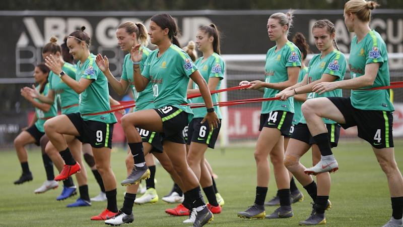 CUP OF NATIONS MATILDAS TRAINING