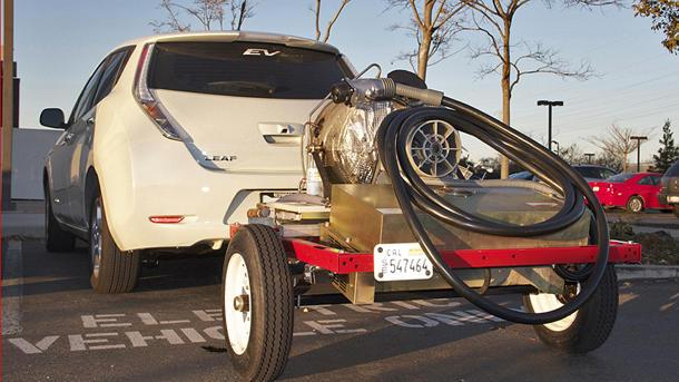 How one inventor wants to boost EVs with a towable turbine
