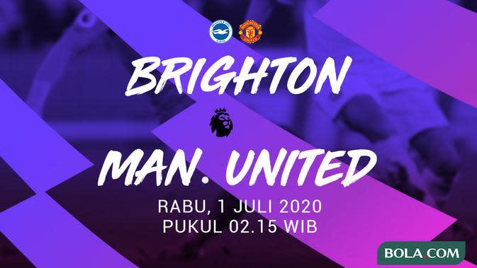 Link Live Streaming Brighton Vs MU di Liga Inggris Malam Ini