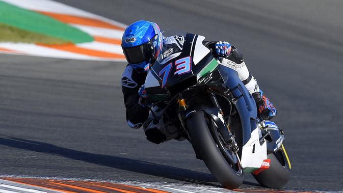 MotoGP 2020 menjadi debut Alex Marquez bersama Repsol Honda. Adik Marc Marquez itu memasang target utama untuk menjadi Rookie of The Year. (AFP/Jose Jordan)