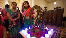 印度排燈節晚會在台北賓館舉行(1) (圖)
