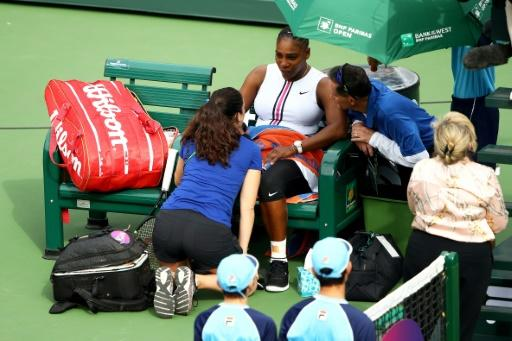 Serena Williams retired from her Indian Wells encounter with Garbine Muguruza