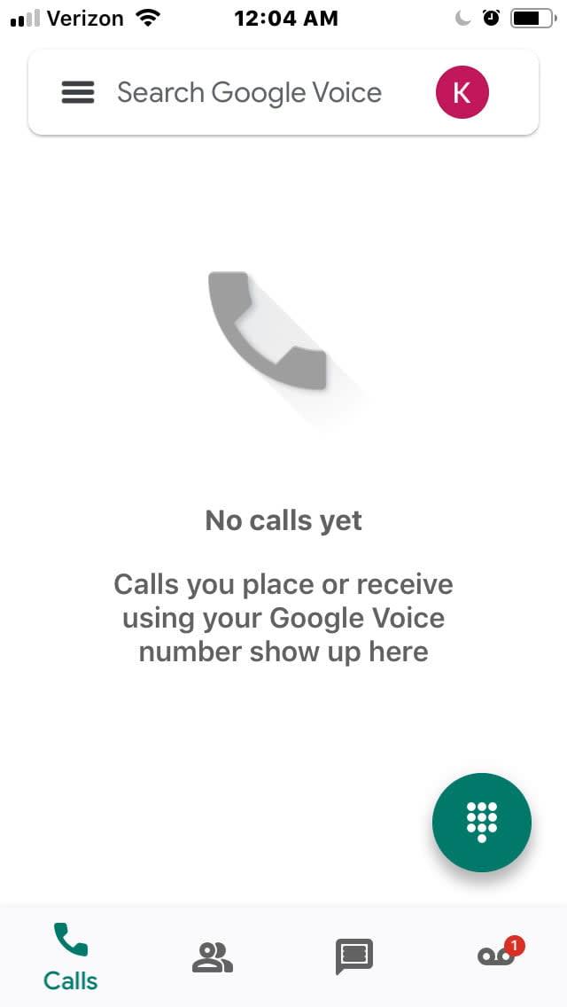 iPhone Google Voice