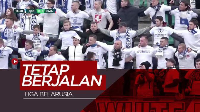 VIDEO: Berbeda Dengan Premier League atau La Liga, Liga Belarusia Terus Berjalan Saat Wabah Corona