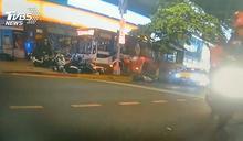公車闖人行道!一路暴衝30米釀1死1傷