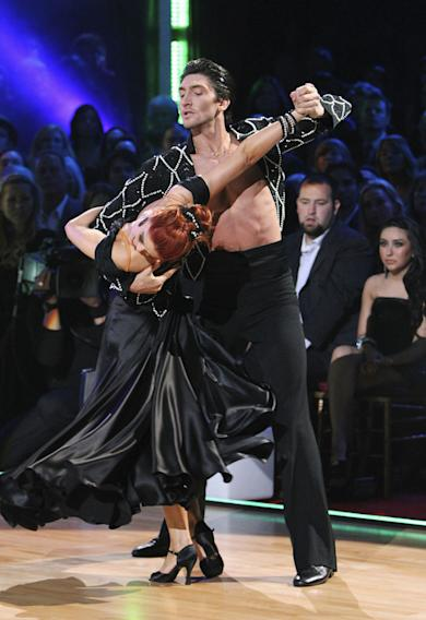 "Anna Trebunskaya and Evan Lysacek on ""Dancing with the Stars."""