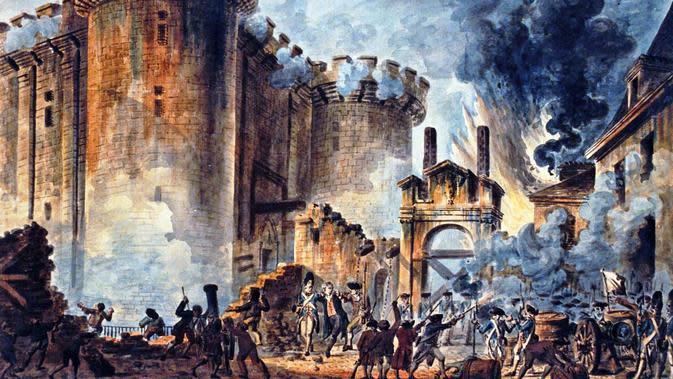 Selasa 14 Juli 1789 adalah hari ketika revolusi Prancis bermula, dari sebuah penjara bernama Bastille (Wikipedia)