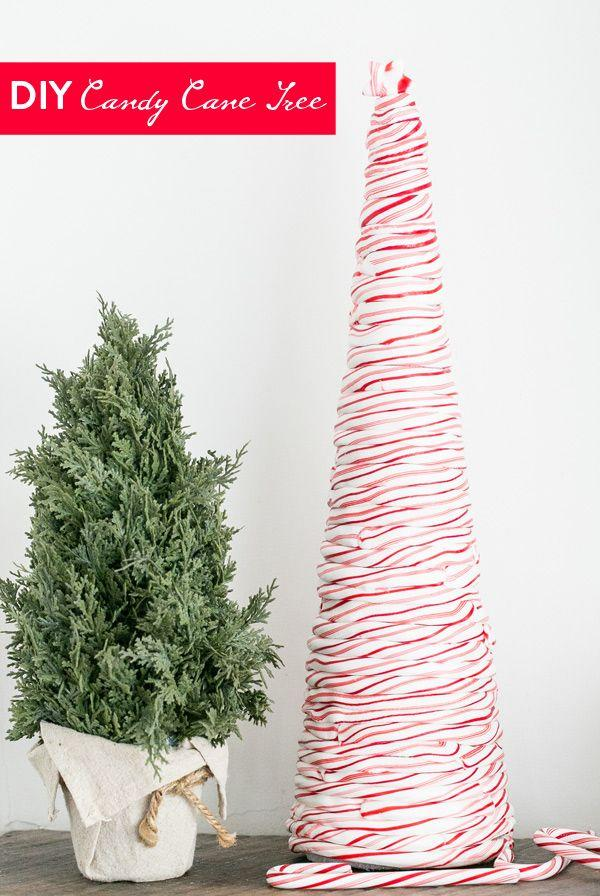 "<p>Create this clever real candy tree by heating candy canes until they can be bent around a styrofoam tree shape. It's a fun alternative (or addition!) to the traditional gingerbread house. </p><p><strong>Get the tutorial at</strong> <strong><a href=""https://sugarandcharm.com/diy-candy-cane-tree"" target=""_blank"">Sugar and Charm</a>. </strong></p><p><a class=""body-btn-link"" href=""https://www.amazon.com/Candy-Cane-Peppermint-Flavored-Pieces/dp/B075B8V3W2/ref=sr_1_8?dchild=1&keywords=candy+canes&qid=1601304734&sr=8-8&tag=syn-yahoo-20&ascsubtag=%5Bartid%7C10050.g.34192401%5Bsrc%7Cyahoo-us"" target=""_blank"">SHOP CANDY CANES</a></p>"