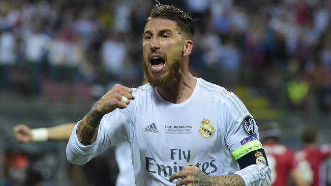 Kapten Real Madrid, Sergio Ramos (AFP/Olivier Morin)