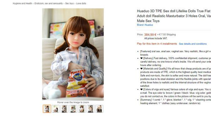 Dikecam Aktivis, Amazon Tarik Iklan Boneka Seks Anak-Anak