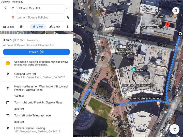 Google Apple Map comparisons