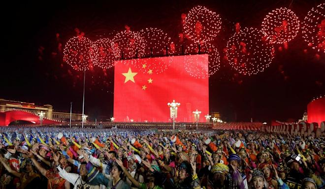 Performers at last year's National Day gala in Beijing. Photo: Reuters
