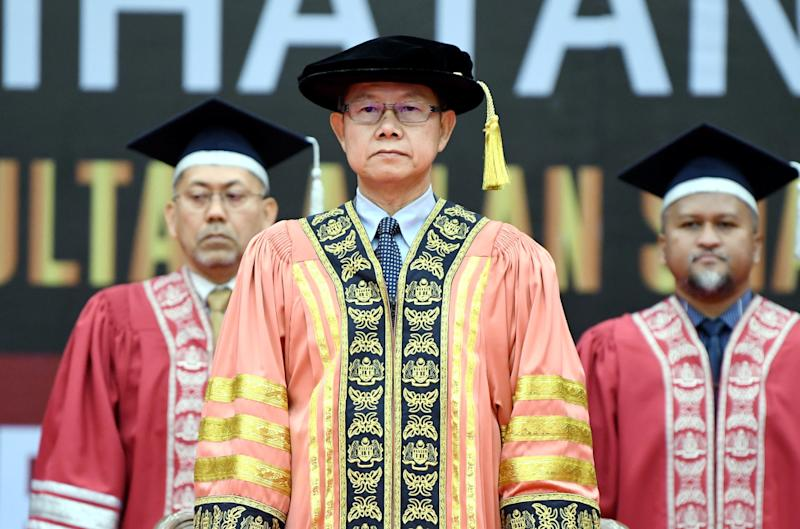 Deputy Health Minister Dr Lee Boon Chye attends the ILKKM Sultan Azlan Shah graduation ceremony in Ulu Kinta October 21, 2019. — Picture by Farhan Najib