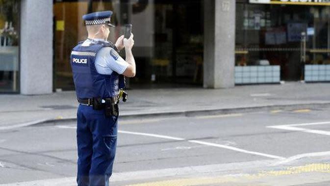 Polisi Selandia Baru (AP Photo/Mark Baker)