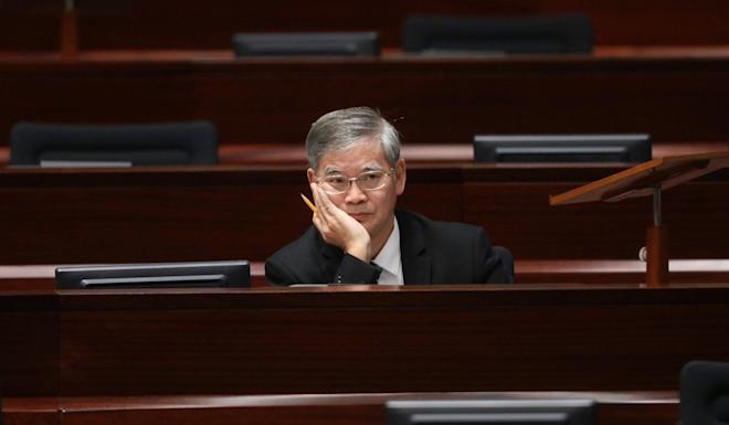 Secretary for Labour and Welfare Law Chi-kwong at the Legislative Council meeting on Thursday. Photo: K.Y. Cheng