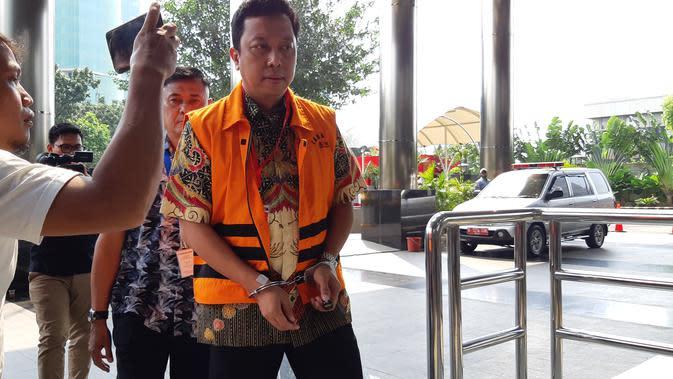 Eks Ketua Umum PPP Romahurmuziy atau Romi menjalani pemeriksaan di KPK. (Liputan6.com/Fachrur Rozie)
