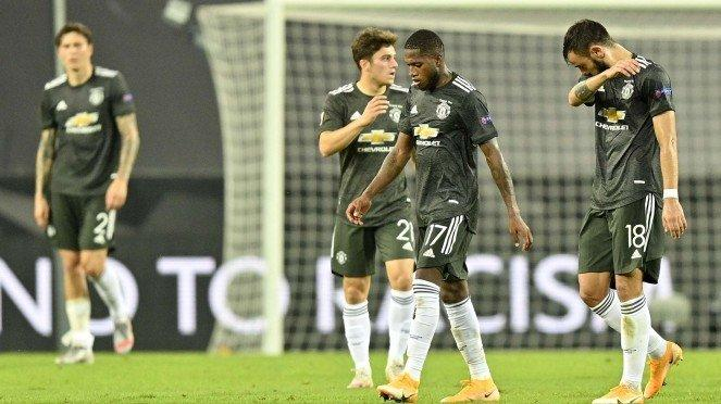 Ekspresi pemain Manchester United usai digasak Sevilla