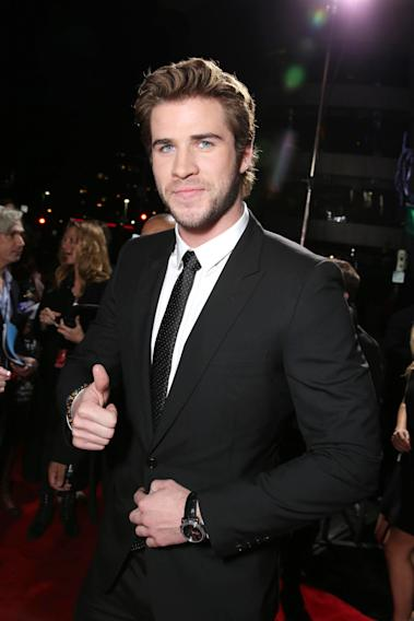 Liam Hemsworth seen at Lionsgate's 'The Hunger Games: Catching Fire' Los Angeles Premiere, on Monday, Nov, 18, 2013 in Los Angeles. (Photo by Eric Charbonneau/Invision for Lionsgate/AP Images)