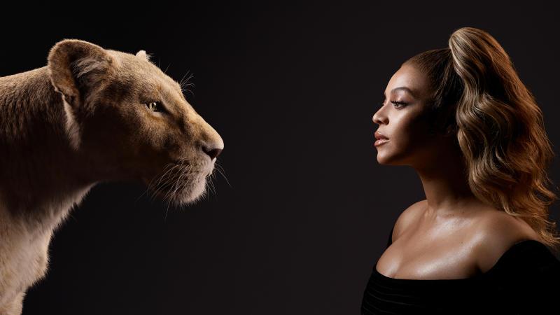 Beyoncé with character Nala. Photo: Disney