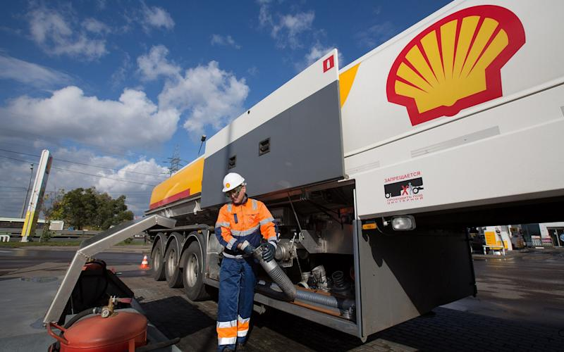Shell lorry
