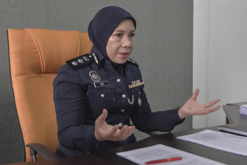 Bukit Aman Sexual, Women and Child Investigations Division (D11) principal assistant director ACP Siti Kamsiah Hassan speaks to Malay Mail during an interview in Kuala Lumpur. ― Picture by Shafwan Zaidon