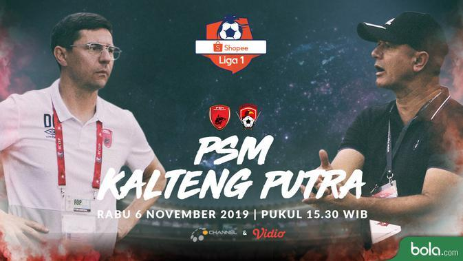 Link Live Streaming O Channel PSM Makassar Vs Kalteng Putra, Exclusive di Vidio 15.30