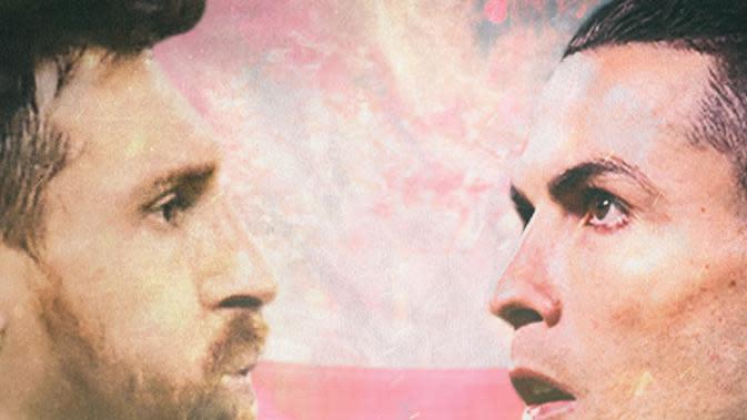 Lionel Messi dan Cristiano Ronaldo (Bola.com/Adreanus Titus)