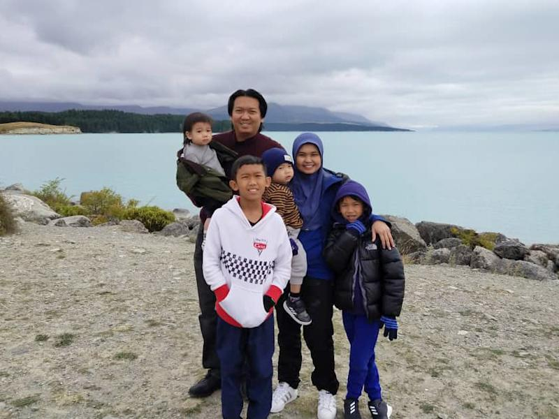 Riza's young family was stranded in Christchurch until he reached out to other Malaysians living in New Zealand for help and advice. — Pictures courtesy of NZMBA, Riza and Alice Tan