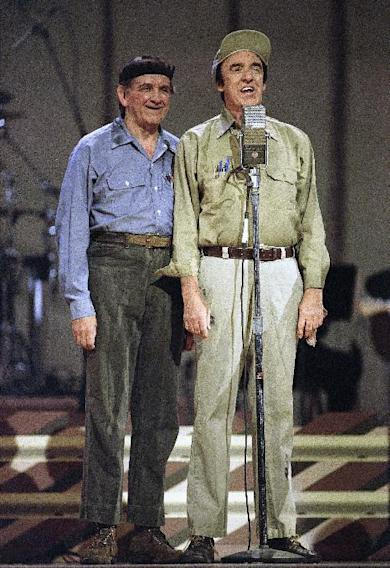 This May 1992 photo provided by the The Andy Griffith Show shows Jim Nabors, right, with George Lindsey. Lindsey, who spent nearly 30 years as the grinning Goober , has died, Sunday, May 6, 2012. He was 83. (AP Photo/The Andy Griffith Show)