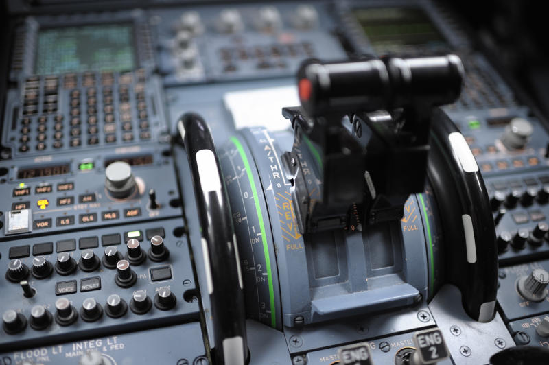 The pilot spilt coffee on the plane's control panel after sitting it on a tray. Source: Getty/file