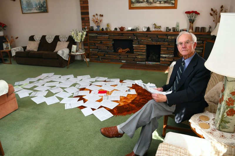 Derek Cheesbrough has been sent 100 letters from TV Licensing despite not owning a TV since 1997 (SWNS)