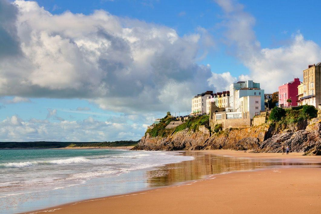 "<p>Backed by low cliffs, what makes Castle Beach so special is the fact it disappears at high tide! At low tide, it's gorgeous - just 150m wide, the cove is picturesque, thanks to the ancient ruins of Tenby Castle above it. </p><p><a class=""body-btn-link"" href=""https://go.redirectingat.com?id=127X1599956&url=https%3A%2F%2Fwww.airbnb.co.uk%2F&sref=https%3A%2F%2Fwww.cosmopolitan.com%2Fuk%2Fentertainment%2Ftravel%2Fg4958%2Fbest-beaches-in-uk%2F"" target=""_blank"">FIND AN AIRBNB</a></p>"
