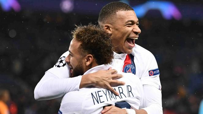 Duet bomber Paris Saint Germain (PSG), Neymar & Kylian Mbappe