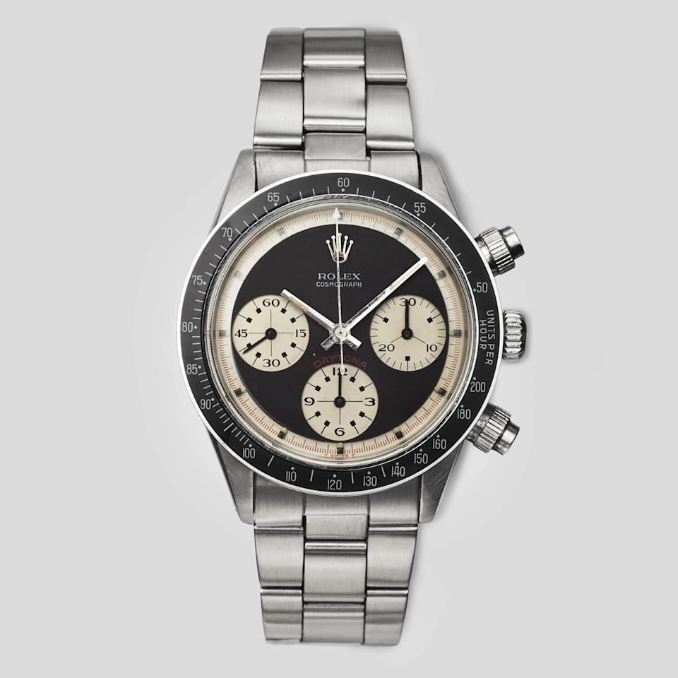 "<p><strong>Rolex</strong></p><p>materialgood.com</p><p><strong>$360000.00</strong></p><p><a href=""https://www.materialgood.com/collections/pre-owned/products/vintage-daytona-6240-paul-newman-dial"" target=""_blank"">SHOP NOW </a></p><p>A watch is the go-to gift for a groom, but gift a vintage one for an elevated take on the standard. It begs to be passed down to future generations, and he'll love showing it off at work, nights out, and at formal affairs. Opt for a timepiece that pairs well with both day and formal wear, so he can get the most wear out of his new favorite accessory.</p>"